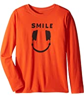 Life is Good Kids - Headphone Smile Long Sleeve Tee (Little Kids/Big Kids)