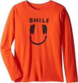 Headphone Smile Long Sleeve Tee (Little Kids/Big Kids)