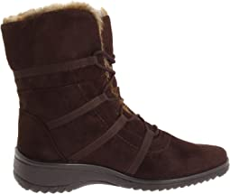 Brown Synthetic Suede w/ Beige Fur Trim