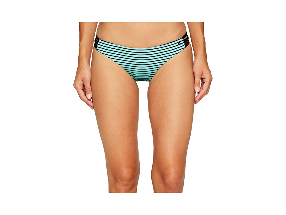 Hurley Quick Dry Stripe Surf Bottoms (Washed Teal) Women