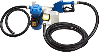 AmazonCommercial DEF Transfer Pump Kit 8GPM/30LPM 120VAC 300W 2.5A with EPDM 20' Foot Discharge & 5' Foot Suction Hoses, Hose Barb Tail rings, Plastic Automatic Nozzle, Flow Meter & Wall Mount Bracket