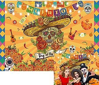 Allenjoy 7x5ft Mexican Day of The Dead Backdrop Fiesta Sugar Skull Photography Background for Dia DE Los Muertos Birthday ...