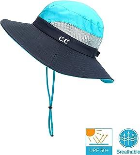 05cb3306cb563f C.C Hatsandscarf Exclusives Outdoor Sun Hat UV Protection Foldable Mesh Wide  Brim Beach Summer Hat (