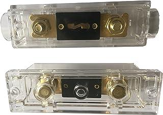 KOLACEN ANL guldpläterad säkring 200 Amp + ANL-säkringshållare 2-pack
