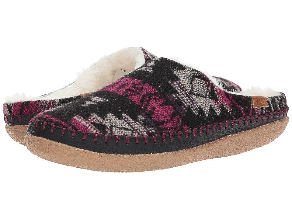 TOMS Ivy Slipper (Grey/Fuchsia Tribal Wool) Women
