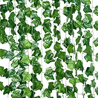Mumoo Bear BTUGOOD Artificial Ivy 24 Pack 186Ft, Fake Ivy Garland Decorations,Fake Plants,Fake Vine,Vine Decoration for We...