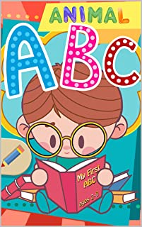 Animal ABC books for Kids Photo book: ABC Alphabet Flash Cards Upper And Lower Case