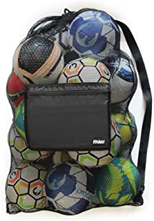 Extra Large Heavy Duty Mesh Bag. Best for Soccer Ball, Water Sports, Beach Cloth, Swimming Gears. Adjustable Shoulder Strap Made to Fit Adults and Kids. Secure Side Pocket for Personal Items