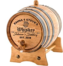 Personalized - Custom Engraved American Premium Oak Aging Barrel - Age your own Whiskey, Beer, Wine, Bourbon, Tequila, Rum, Hot Sauce & More | Barrel Aged (20 Liters)