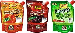 Sibarita Peruvian Chili Paste Peppers - Aji Amarillo - Aji Panca - Cilantro - Non Spicy - 250 Grams - 8.82 Oz.