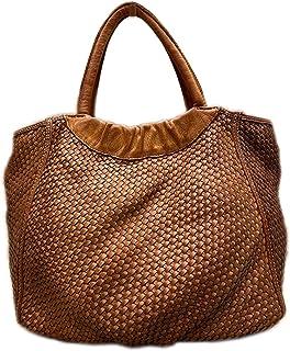 BZNA Bag Madita cognac vintage Italy Designer Business Damen Handtasche Ledertasche Schultertasche Tasche Leder Shopper Neu