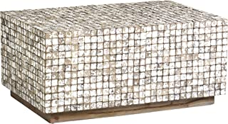 East At Main Dellwood Coconut Shell, Tumbled Granite Coffee Table, Grey