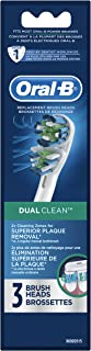 Oral-B Dual Clean Replacement Electric Toothbrush Replacement Brush Heads, 3ct