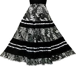 COTTON BREEZE Women's Cotton Skirt Black