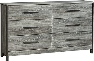 Ashley Cazenfeld Six Drawer Dresser In Black/Gray