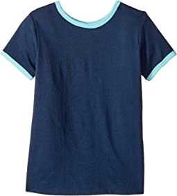 Four-Way Reversible Short Sleeve Scoop Jersey Top (Little Kids/Big Kids)