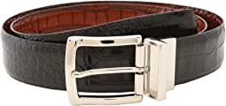 Reversible Italian Crocodile Embossed