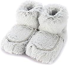 Warmies Slipper Boots Grey Marshmallow