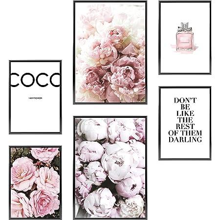 Heimlich® Tableau Décoration Murale - sans Cadres - Set de Poster Premium pour la Maison, Bureau, Salon, Chambre, Cuisine - 2 x (30x42cm) et 4 x (21x30cm) | »Coco «