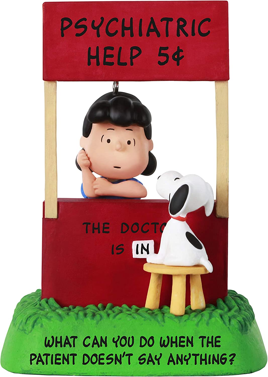 Hallmark Keepsake Christmas Ornament 2021, The Peanuts Gang The Doctor is in Lucy and Snoopy