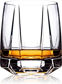 Whiskey Glasses Set 2 | Old Fashioned Glasses for Scotch Whisky, Bourbon and Cocktails | Hand Blown Scotch Glasses with Th...