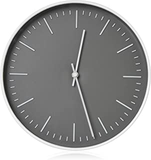 "RCA RCWC10WG Wall Clock, 10"" Round - Grey. Decorative Wall Clock - Battery Operated Quartz Accuracy - Large Display Clock"