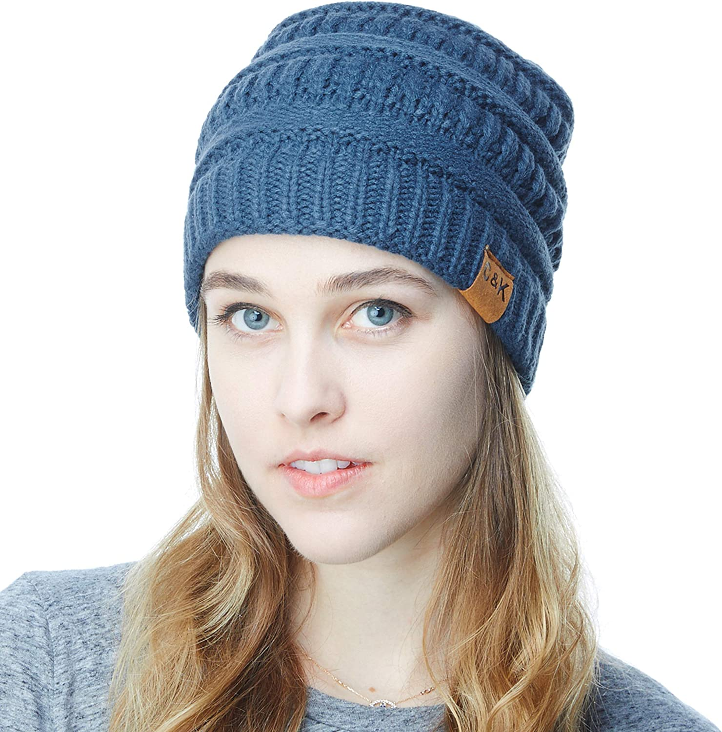 e351eadd3a2ff2 THE HAT DEPOT Women & & & Men Knit Beanie Soft, Warm Chunky Beanie 480501
