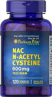 Puritan's Pride N-Acetyl Cysteine (NAC) 600 mg-120 Capsules