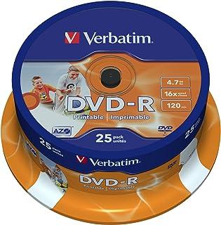 comprar comparacion Verbatim 43538 - Pack de 25 DVD-R Imprimable