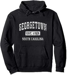 Georgetown South Carolina SC Vintage Established Sports Pullover Hoodie