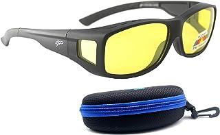 Fit Over Polarized Night Vision Glasses Anti reflective Anti Glare UV-400 Wear Over Driving Glasses
