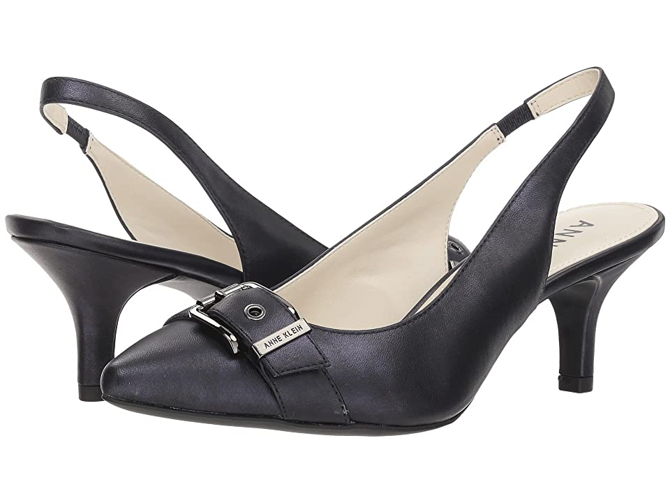 Anne Klein Fenris (Metallic Navy Leather) Women