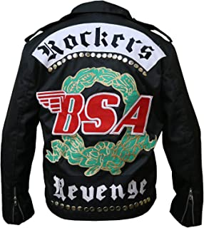 Cordura/Parachute Jacket - BSA Faith George Michael Rockers Revenge Jacket, XXS to 3XL