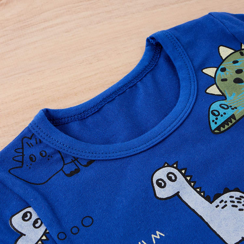 Toddler Baby Boy Spring Summer Clothes Short Sleeve Dinosaur T-Shirt Top and Shorts Pants 2PCS Causal Outfits Set