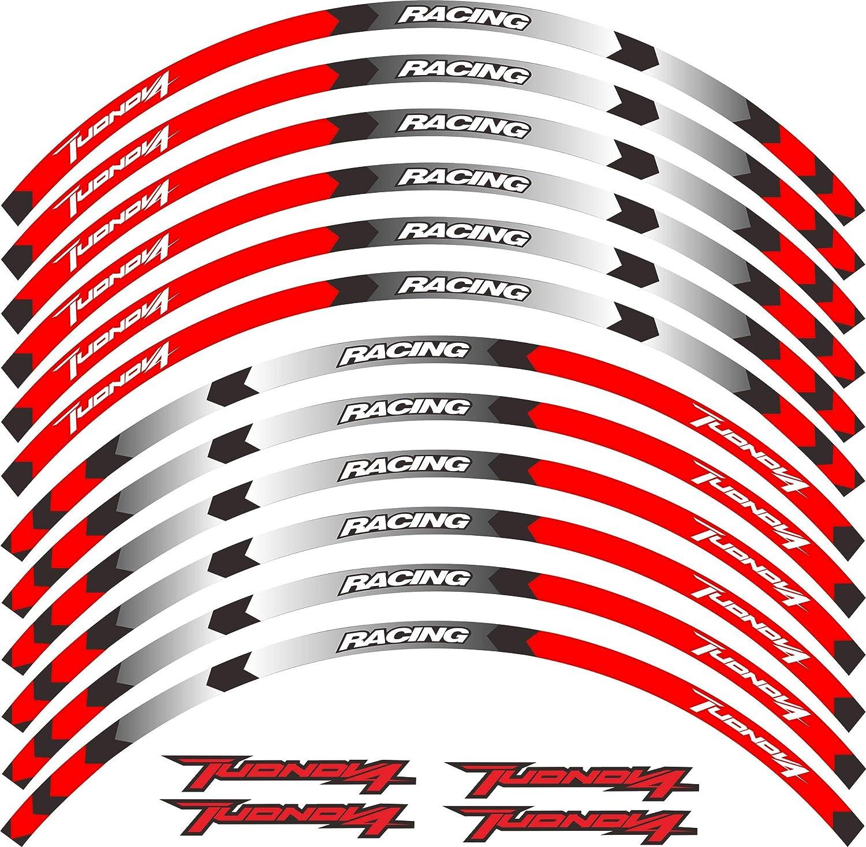 New Motorcycle Wheel Decal Reflective Sticker for Aprilia Tuono V4 1100 RR Tuono V4 1100 Factory Tuono V4 R APRC Tuono V4 R ABS