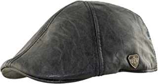 PU Fitted Weather Proof Leather duckbill IVY newsboy Driving Hat Cap