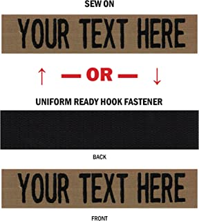 Northern Safari Custom Uniform Name Tapes, 50 Fabrics Made in The United States. Same Day Ship.