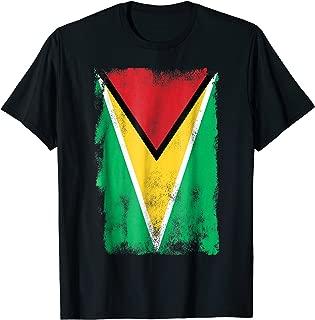 Vintage Style Retro Look Guyana Flag T Shirt