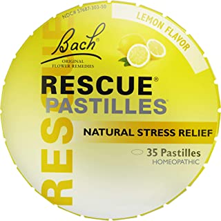 RESCUE PASTILLES, Homeopathic Stress Relief, Natural Lemon Flavor - 35 Pastilles