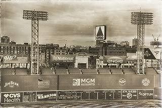 Fenway Park Green Monster Scoreboard and CITGO Sign, Vintage Fenway Park Photo