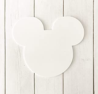 White Mickey Mouse Head 5x5 Die Cut Place Card Food and Name Labels 20 Pieces