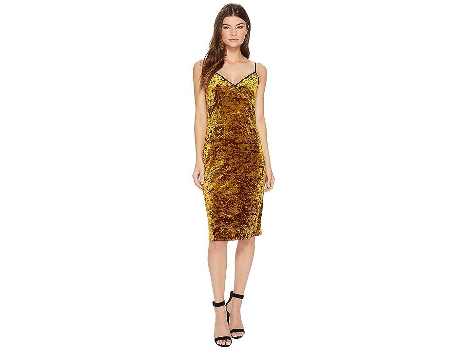 1.STATE Racerback Bodycon Midi Dress (Deep Gold) Women