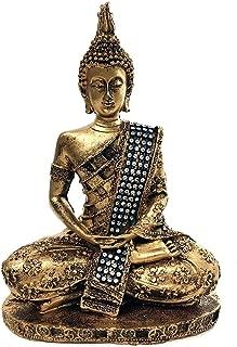 Bellaa 28526 Thai Buddha Statue Meditating Peace Harmony 8 inch