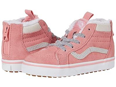 Vans Kids SK8-Hi Zip MTE (Infant/Toddler) ((MTE) Flamingo Pink/Holographic) Girls Shoes