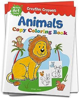 Creative Crayons Animals : My First Art Series - Crayon Copy Colour Books