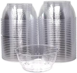 Hard Clear Plastic Dessert Bowls 6 Ounce, (Bulk 100 Pack) Premium Quality