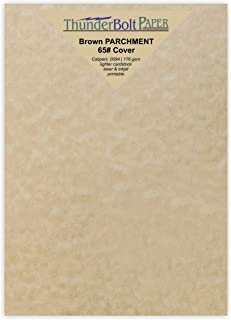 100 Sandy Brown Parchment 65lb Cover Weight Paper - 5