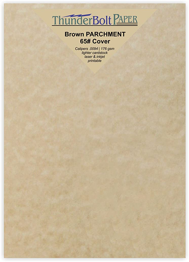 150 Brown Parchment 65lb Cover Weight Paper - 4.5