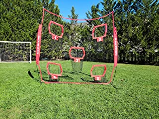 CLAAN Sporting Heavy Duty Football Throwing NET | Largest Net Available 8x8 with 5 Pockets and Comes with Carry Bag | Perf...