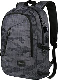 Camo Backpack, Camouflage Travel Laptop Backpack for Travel Accessories, Lightweight Anti-Theft Durable School Bag w/Charging Port, Outdoor Daypack for Men Women Boys Girls, Fits 15.6 Inch Notebook